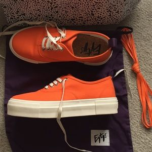 Eytys Mother orange canvas sneakers